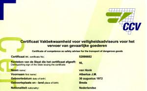VA certificaat briefhoofd